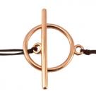 Toggleverschluss - 21x15 mm rosé goldfarben (Copper)