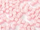 #02 25 Stück Crisscross Cube Ø 4 mm - Pastel Rose