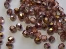 #85 50 Stück - 4,0 mm Glasschliffperlen - tr.topaz/lachs AB hal