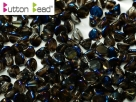 #02.00 50 Stck. Button Beads 4mm Crystal Full Azuro