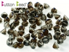 #02.01 50 Stck. Button Beads 4mm Crystal Azuro