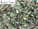 #08.01 50 Stck. Button Beads 4mm Crystal Vitrail