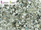#11.00 50 Stck. Button Beads 4mm Crystal Silver Rainbow