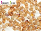 #13.00 50 Stck. Button Beads 4mm Crystal Brown Rainbow