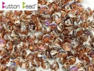 #14.00 50 Stck. Button Beads 4mm Crystal Copper Rainbow