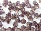 #05.10 25 Stück Trichterblüten 7x5 mm crystal lila bronzelusted