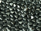 #10 40 Stück - Bicone 6,0 mm -  jet hematit