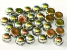 #03 25 Stck. 2-Hole Cabochon 6mm Crystal Vitrail Full
