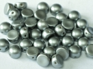#13 25 Stck. 2-Hole Cabochon 6mm Pastel Lt Gray