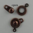 Druckverschluss - 8 mm antique copper