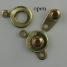 Druckverschluss - 8 mm brass