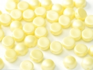 #17 25 Stck. 2-Hole Cabochon 6mm Pastell Yellow