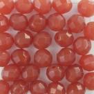 #10.0 25 Stück - 8,0 mm Glasschliffperlen - opal rosébrown