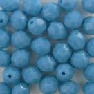 #12.0 25 Stück - 8,0 mm Glasschliffperlen - opak turqoise
