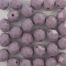 #13.0 25 Stück - 8,0 mm Glasschliffperlen - opak amethyst