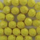 #15.0 25 Stück - 8,0 mm Glasschliffperlen - opak yellow