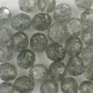 #21.0 25 Stück - 8,0 mm Glasschliffperlen - tr. crashed black di
