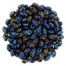 #04.06 - 10g MiniDuo-Beads  Jet Blue Iris
