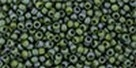 10 g TOHO Seed Beads 11/0 TR-11-0322 F - Gold-Lustered Frosted Emerald (C)