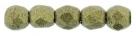 #29 50 Stück - 2,0 mm Glasschliffperlen - Metallic Suede - Gold