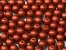 #32 25 Stück Perlen rund - Ø 8mm Lava Red