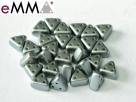 #11 50 Stück eMMA Bead  3x6x6 mm - Pastel Lt Grey