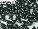 #15 50 Stück eMMA Bead  3x6x6 mm - Pastel Dk Grey
