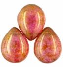 #05 - 1 Glastropfen 12x16mm Luster-Rose/Gold Topaz