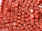 #12 25 Stück Crisscross Cube Ø 4 mm - Pastel Dk Coral