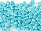 #13 25 Stück Crisscross Cube Ø 4 mm - Pastel Aqua