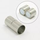 1 Magnet-Verschluss Ø 20x7mm zum Kleben - Edelstahl Hochglanz