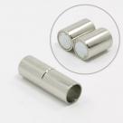 1 Magnet-Verschluss Ø 15x5mm zum Kleben - Edelstahl Hochglanz
