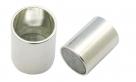 1 Magnet-Verschluss Ø 28x11mm zum Kleben - silber