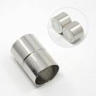 1 Magnet-Verschluss Ø 24x16mm zum Kleben - platinumfarben
