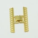 Fold Over Mehrstrang-Uhrenverschluss - 23x38 mm gold