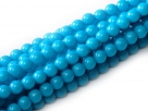 #99.41 1 Strang - 4,0 mm Glasperlen - aqua/paint coating