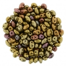 #08.01 - 10g MiniDuo-Beads  Matte Metallic Gold Copper Iris