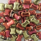#13.00 25 Stck. 6x8 mm CoCo Bead vertical - Jet California Gold