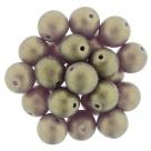 #33 25 Stück Perlen rund - Ø 8mm Sueded Gold Amethyst