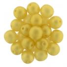 #34 25 Stück Perlen rund - Ø 8mm Sueded Gold Lamé