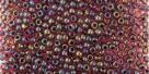 10 g TOHO Seed Beads 11/0 TR-11-0400 - Inside-Color Lustered Dk Ruby/Black (E)