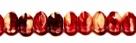 #15 - 20 Stück - 5*8mm Donut - Opak Beige/Tr. Ruby