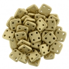 #09 10g QuadraTile-Beads 6mm - Matte Metallic Flax