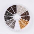 1 Box Quetschperlen Farb-Mix Ø 2,0 mm