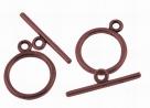 Toggleverschluss - 21x15 mm antique copperfarben