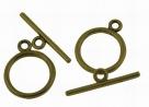 Toggleverschluss - 21x15 mm antique bronzefarben