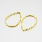 1 Stück Metalltropfen Ø 44,5x33 mm gold