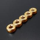 1 Stück Verteilersteg 45,5x10x4,5mm (5-reihig) - gold
