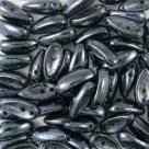 #04.01 - 25 Stck. Chilli-Beads 4x11mm - opak jet hematit