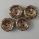 #05 - 1 Cup Button Bead Ø14mm - Chalk White Lila Gold Luster